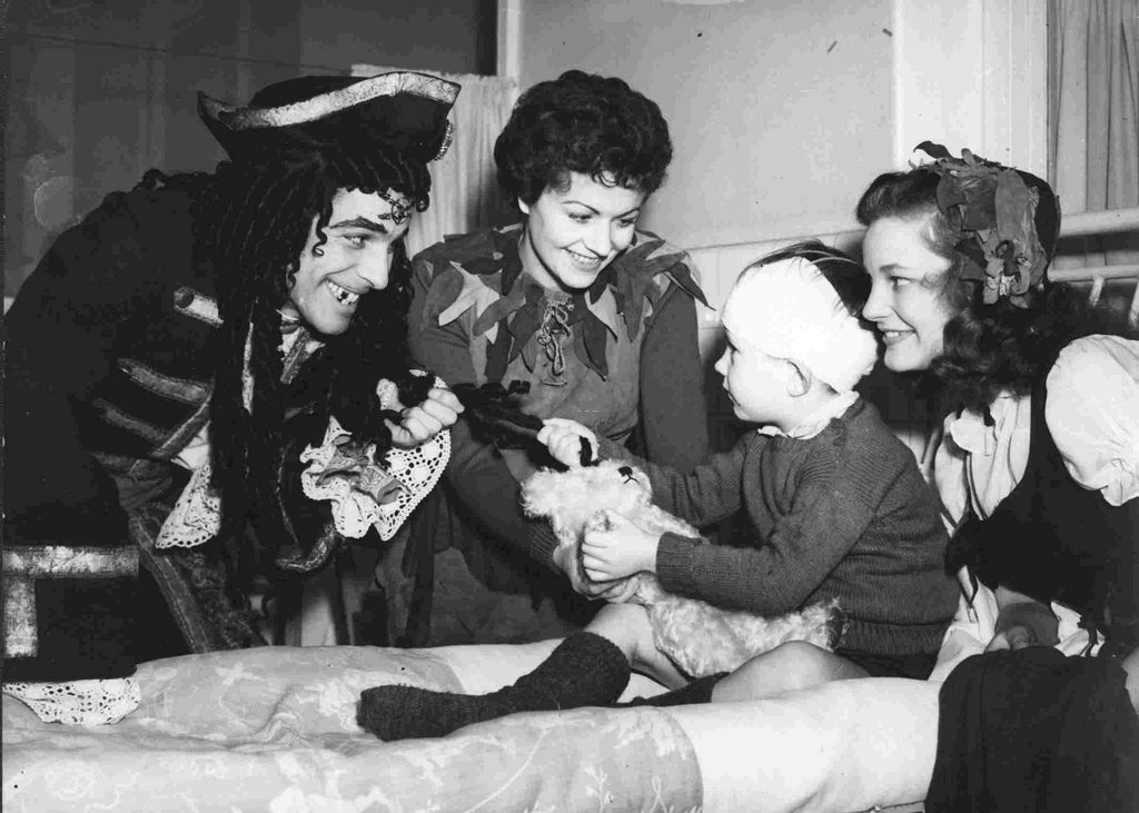 It was always a tradition for the cast of Peter Pan to visit the hospital over the holidays.