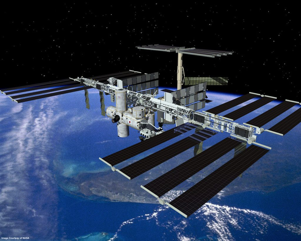 The International Space Station has contributed to orbital debris and and had one of its windows damaged by it.