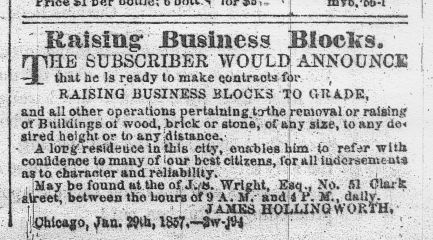 Hollingsworth's Newspaper ad — Notice the many typos - from the Tribune.