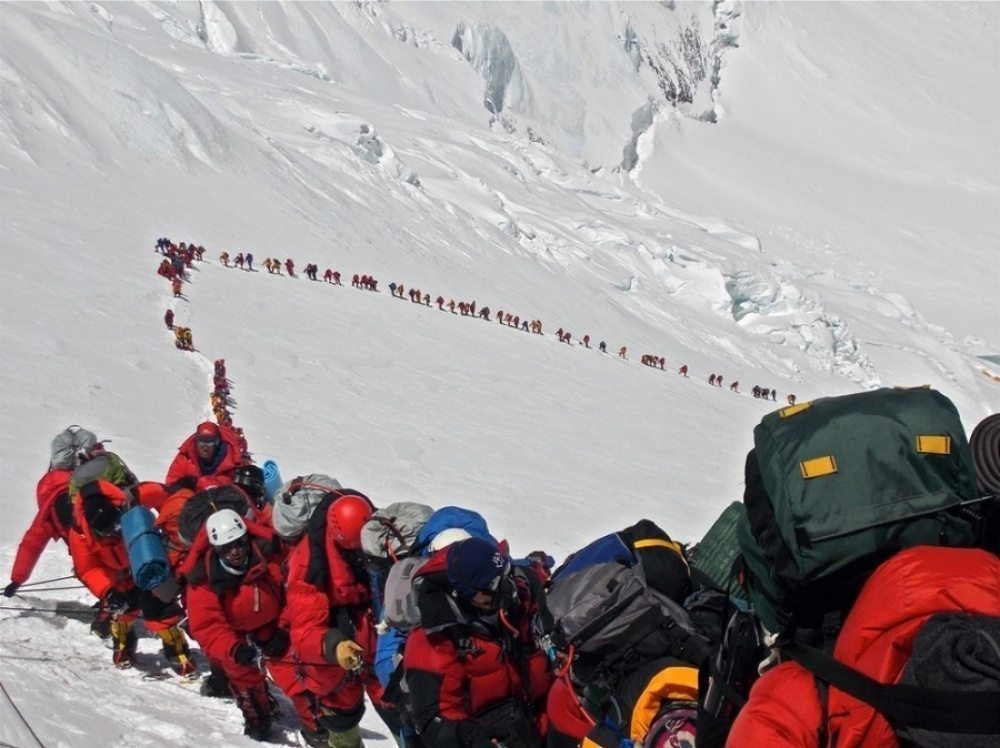 A Busy Day climbing Everest