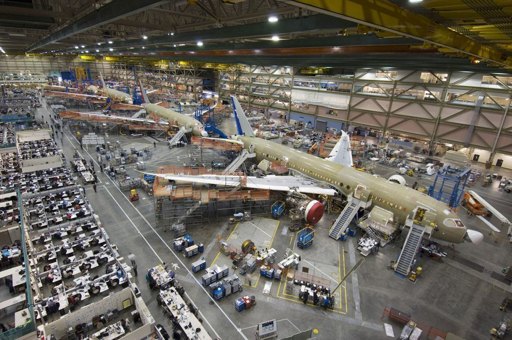 The Boeing Everett Factory is the World's Largest Building by volume and covers almost 100 acres.