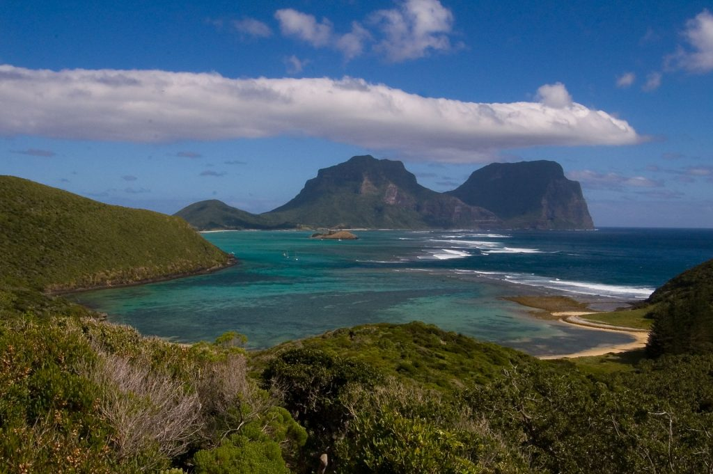 Mount Lidgbird and Mount Gower viewed from Mount Eliza - Source: Wikipedia