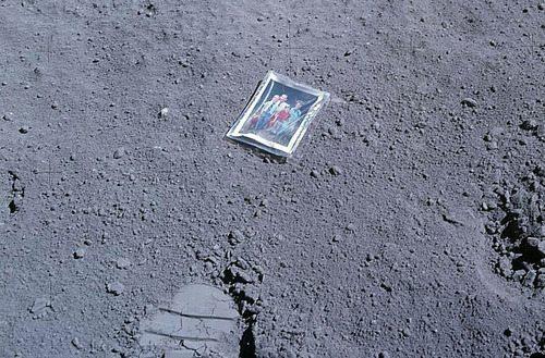 Apollo 16 astronaut Charles Duke's family photo left behind on the moon
