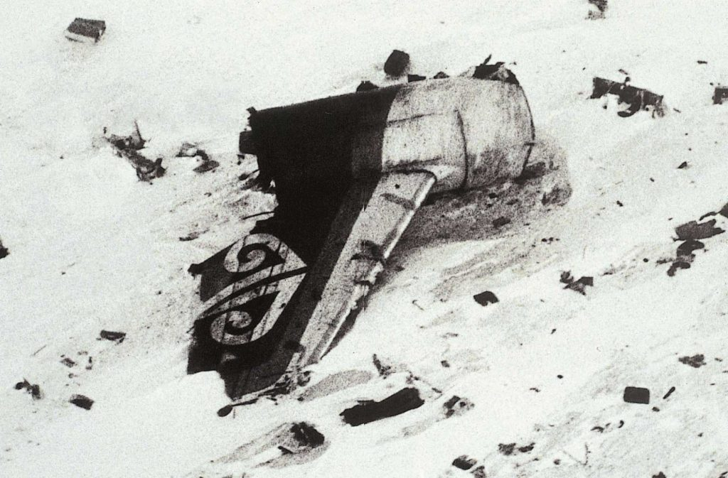 Tail fin, Mount Erebus crash
