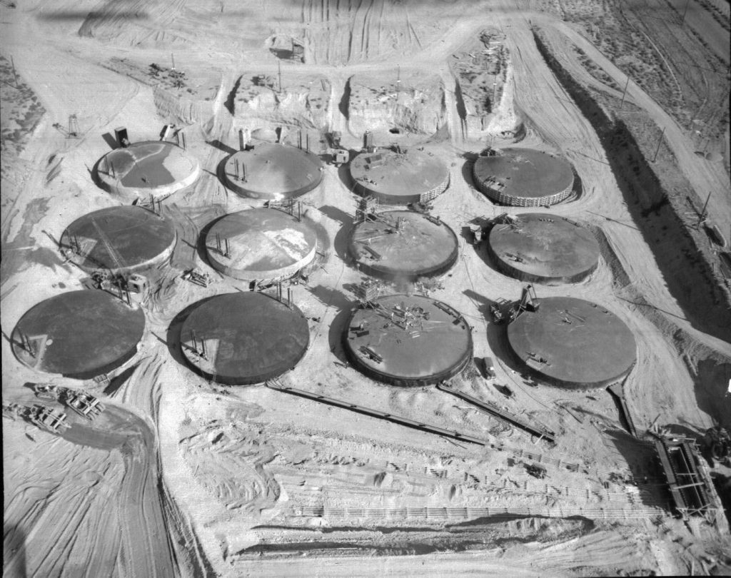 Underground tank farm