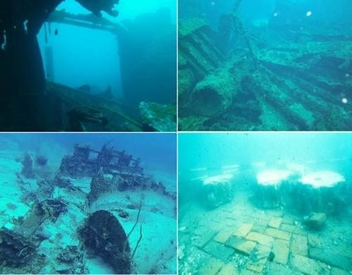 Underwater Images of what remains of Port Royal, Jamaica
