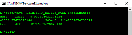 Accessing Excel from Java: Display output