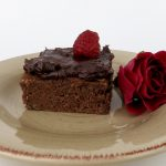 Dark Chocolate Raspberry Rose Brownies (Dairy & Gluten-Free)