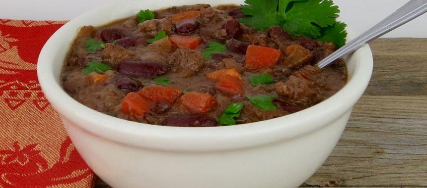 Buffalo Chili con Carne (Dairy & Gluten-Free)