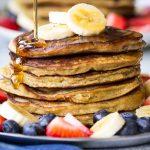 Banana Coconut Flour Pancakes (Dairy & Gluten-Free)