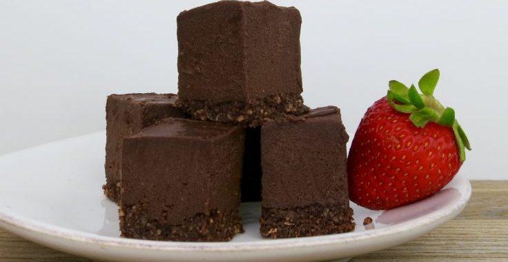 Dark Chocolate Cheesecake Bars (Vegan, Gluten-Free)