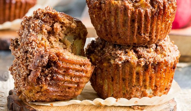 Apple Muffins with Crumb Top (Dairy & Gluten-Free)