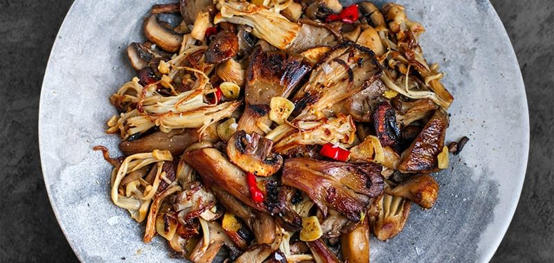 Garlic Chili Mushrooms (Whole30, Keto, Vegan)