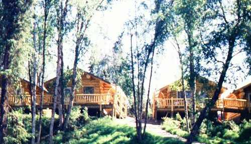 Cabins 1-4 from the river trail