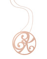 """""""CK"""" Large Signature Pendant in Rose Gold Vermeil"""