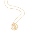 """MN"" Small Signature Monogram Pendant in 18k Yellow Gold Vermeil"