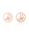 """J"" Diamond Mini Initial Ear Studs in Rose Gold Vermeil"