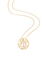 """MN"" Small Custom Diamond Monogram Pendant in 14k Yellow Gold"