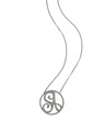 """SA"" Small Signature Pendant in Black Rhodium Plated Sterling Silver"