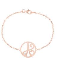 """""""A"""" Diamond Mini Initial Bracelet in Rose Gold Vermeil"""