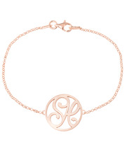 """SH"" Mini Signature Bracelet in Rose Gold Vermeil"