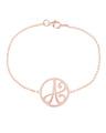 """""""A"""" Mini Initial Bracelet in Rose Gold Vermeil"""