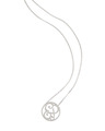 """EP"" Mini Signature Pendant in White Rhodium Plated Sterling Silver"