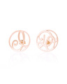 """I Do"" Ear Studs in Rose Gold Vermeil"