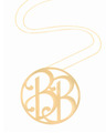 """BB"" Large Signature Pendant in 18k Yellow Gold Vermeil"