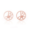 """A"" Mini Initial Ear Studs in Rose Gold Vermeil"
