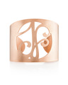 """JF"" Signature Monogram Cuff Bracelet in Rose Gold Vermeil"