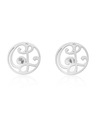 """CL"" Signature Monogram Ear Studs in Sterling Silver"