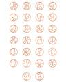 Mini Initial Alphabet in Rose Gold Vermeil