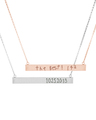 Large Graffiti Bar Necklaces in Rose Gold Vermeil and Sterling Silver
