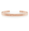 Rose Gold Vermeil Graffiti Bracelet featuring one word in each family member's handwriting