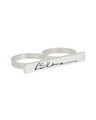 Customizable Graffiti Double Finger Ring in Sterling SIlver