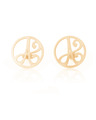 """A"" Mini Initial Ear Studs in 14k Yellow Gold"