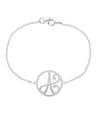 """A"" Mini Initial Bracelet in 14k White Gold"