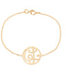 """CL"" Mini Signature Bracelet in 14k Yellow Gold"