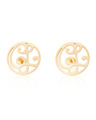 """CL"" Signature Monogram Ear Studs in 14k Yellow Gold"