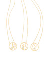 """A,B,C,"" Diamond Mini Initial Pendants in 14k Yellow Gold"