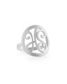 Signature Monogram Ring in Sterling Silver