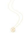 """NS"" Mini Signature Pendant in 14k Yellow Gold"