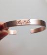 Men's Graffiti Bracelet in Rose Gold Vermeil featuring father's signature