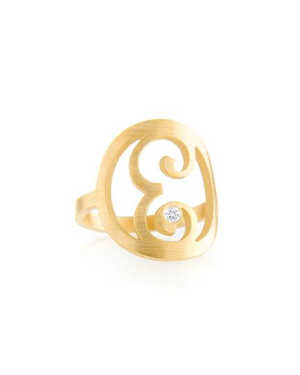 Diamond Mini Initial Ring