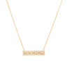 Small Graffiti Bar Necklace in Yellow Gold Vermeil featuring our Custom Roman Numerals