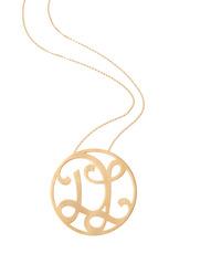 """""""DL"""" Medium Signature Pendant in 18k Yellow Gold Vermeil"""