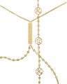 Graffiti Body Chain in 18k Yellow Gold Vermeil with Diamonds
