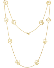"""TK"" Signature Necklace in 18k Yellow Gold Vermeil"