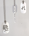 necklace featuring loved one's handwriting